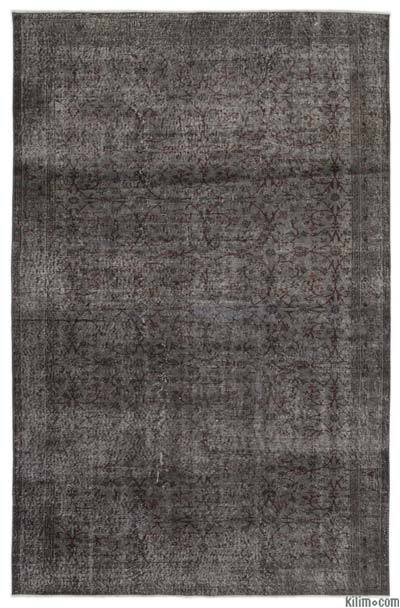 Boyalı El Dokuma Vintage Halı - 197 cm x 305 cm