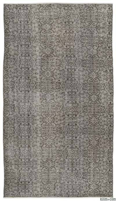 """Over-dyed Turkish Vintage Rug - 5'2"""" x 9'4"""" (62 in. x 112 in.)"""