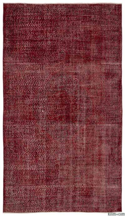 """Over-dyed Turkish Vintage Rug - 5'1"""" x 9'1"""" (61 in. x 109 in.)"""