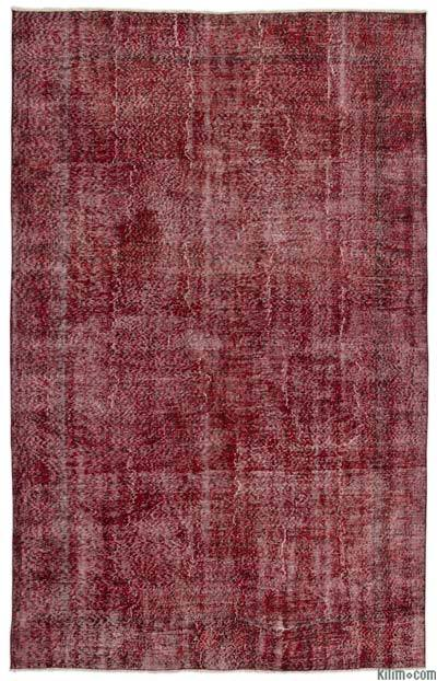 "Over-dyed Turkish Vintage Rug - 6' 7"" x 10' 2"" (79 in. x 122 in.)"