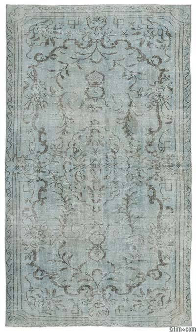 "Over-dyed Turkish Vintage Rug - 5'4"" x 9'4"" (64 in. x 112 in.)"