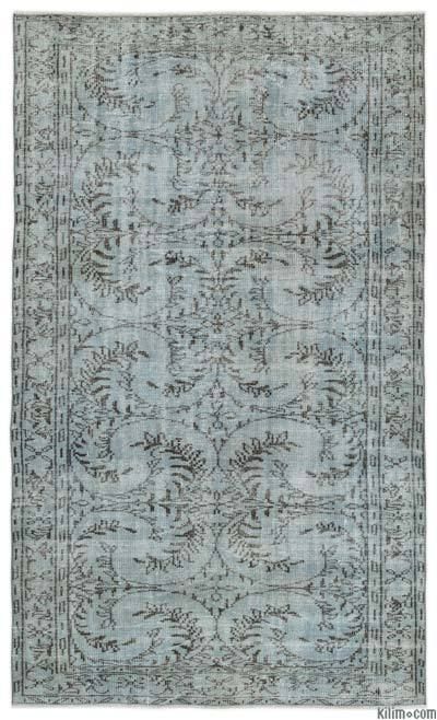 """Over-dyed Turkish Vintage Rug - 5' 4"""" x 8' 11"""" (64 in. x 107 in.)"""