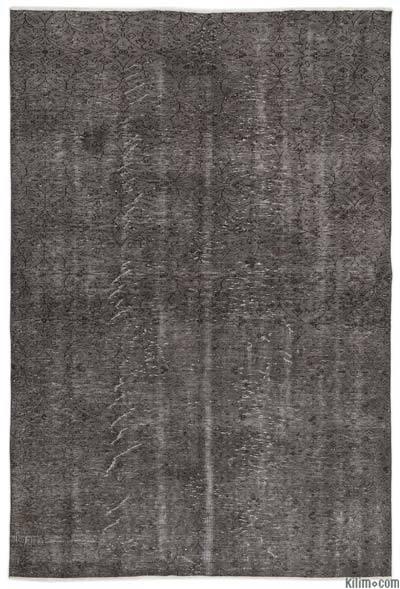 Boyalı El Dokuma Vintage Halı - 185 cm x 280 cm
