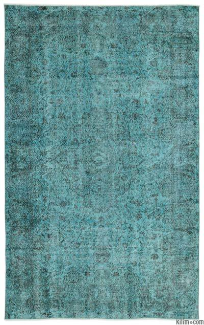 "Over-dyed Turkish Vintage Rug - 6'5"" x 10'5"" (77 in. x 125 in.)"