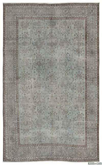 """Over-dyed Turkish Vintage Rug - 6' x 9'9"""" (72 in. x 117 in.)"""