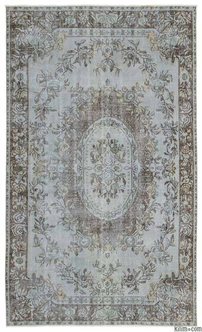 "Over-dyed Turkish Vintage Rug - 5' 8"" x 9' 4"" (68 in. x 112 in.)"