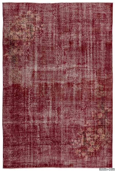 "Over-dyed Turkish Vintage Rug - 6' 8"" x 10' 2"" (80 in. x 122 in.)"