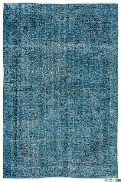 Boyalı El Dokuma Vintage Halı - 189 cm x 283 cm