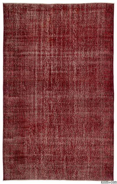 Alfombra Turca Vintage Sobre-teñida - 198 cm x 317 cm