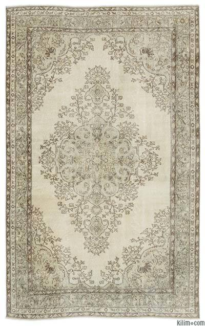 """Over-dyed Turkish Vintage Rug - 5'6"""" x 9'1"""" (66 in. x 109 in.)"""
