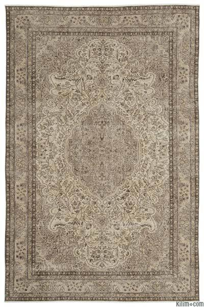 """Over-dyed Turkish Vintage Rug - 6'4"""" x 9'9"""" (76 in. x 117 in.)"""