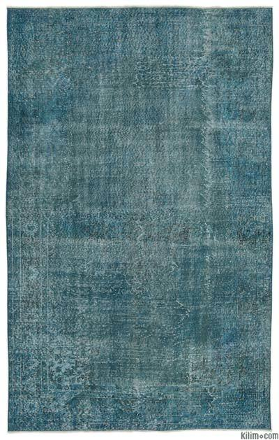 """Over-dyed Turkish Vintage Rug - 5'8"""" x 9'1"""" (68 in. x 109 in.)"""