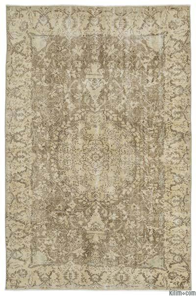 """Over-dyed Turkish Vintage Rug - 6' 4"""" x 9' 9"""" (76 in. x 117 in.)"""