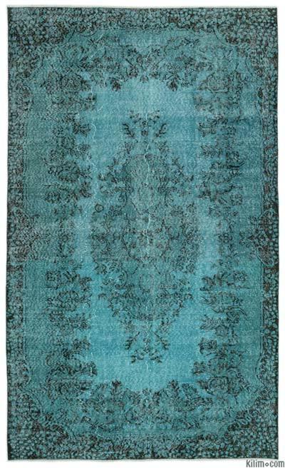 Boyalı El Dokuma Vintage Halı - 171 cm x 286 cm