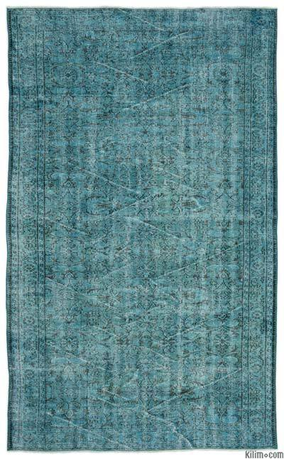 """Over-dyed Turkish Vintage Rug - 5'11"""" x 9'8"""" (71 in. x 116 in.)"""