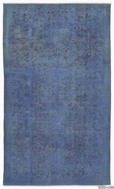 Alfombra Turca Vintage Sobre-teñida - 147 cm x 253 cm