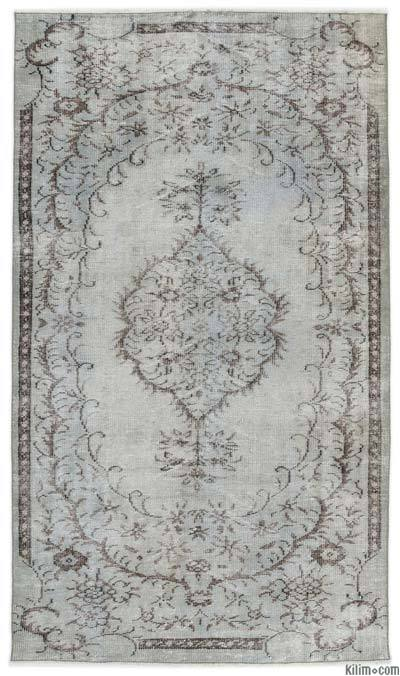 """Over-dyed Turkish Vintage Rug - 4'9"""" x 7'11"""" (57 in. x 95 in.)"""