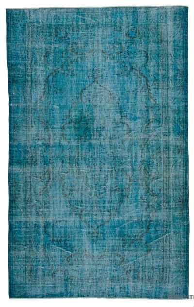 "Over-dyed Turkish Vintage Rug - 5' 10"" x 9' 6"" (70 in. x 114 in.)"