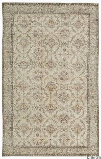 """Over-dyed Turkish Vintage Rug - 6'4"""" x 9'8"""" (76 in. x 116 in.)"""