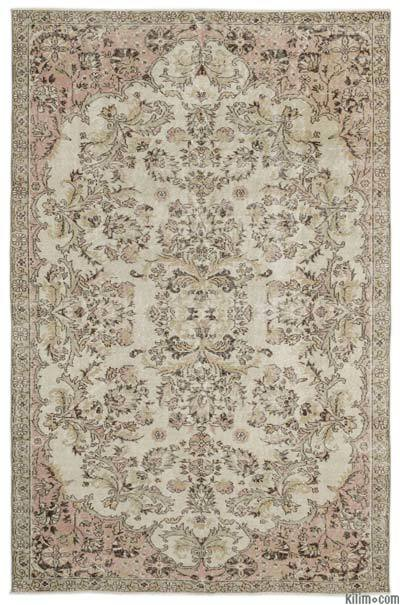 """Over-dyed Turkish Vintage Rug - 6'6"""" x 9'6"""" (78 in. x 114 in.)"""