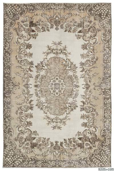 """Over-dyed Turkish Vintage Rug - 6'5"""" x 9'8"""" (77 in. x 116 in.)"""