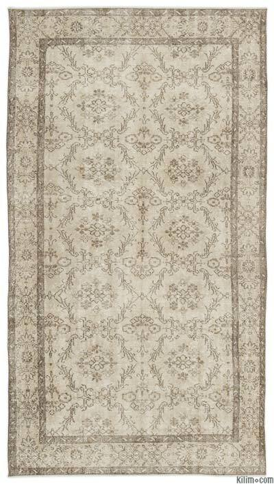 """Over-dyed Turkish Vintage Rug - 4'11"""" x 9'2"""" (59 in. x 110 in.)"""