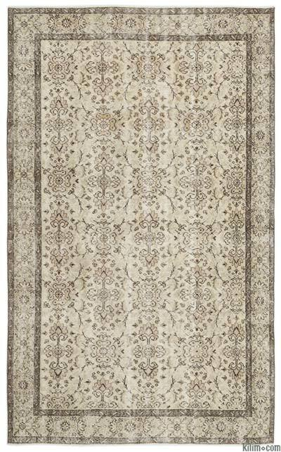 """Over-dyed Turkish Vintage Rug - 5'9"""" x 9'1"""" (69 in. x 109 in.)"""