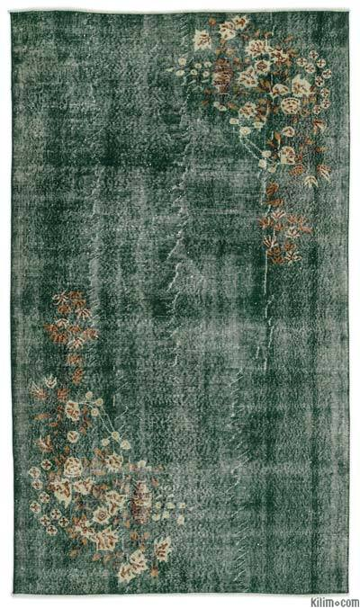 """Turkish Vintage Area Rug - 5'3"""" x 9' (63 in. x 108 in.)"""