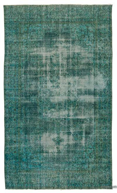 """Over-dyed Turkish Vintage Rug - 6' 6"""" x 10' 11"""" (78 in. x 131 in.)"""