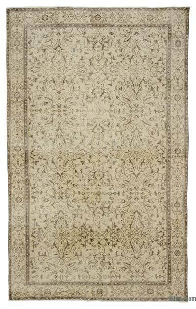 """Over-dyed Turkish Vintage Rug - 6' 1"""" x 9' 11"""" (73 in. x 119 in.)"""