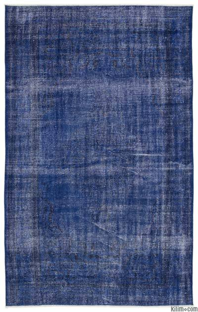 """Over-dyed Turkish Vintage Rug - 5' 7"""" x 8' 11"""" (67 in. x 107 in.)"""