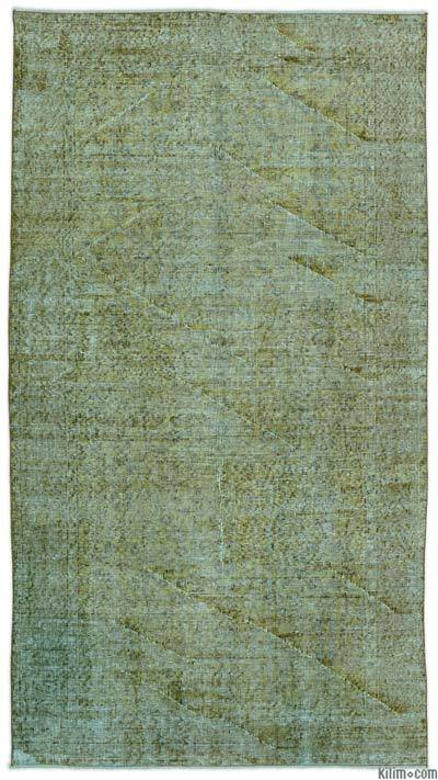 """Over-dyed Turkish Vintage Rug - 4'6"""" x 8'5"""" (54 in. x 101 in.)"""