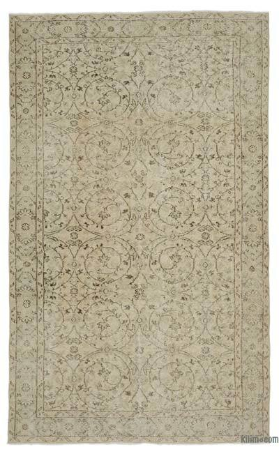 "Over-dyed Turkish Vintage Rug - 5' 5"" x 8' 11"" (65 in. x 107 in.)"
