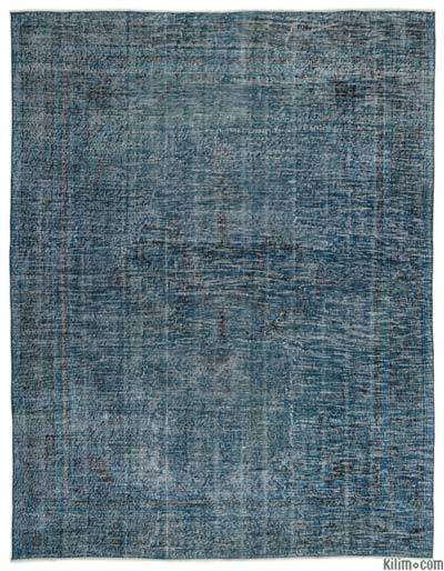 """Over-dyed Turkish Vintage Rug - 6' 9"""" x 8' 11"""" (81 in. x 107 in.)"""