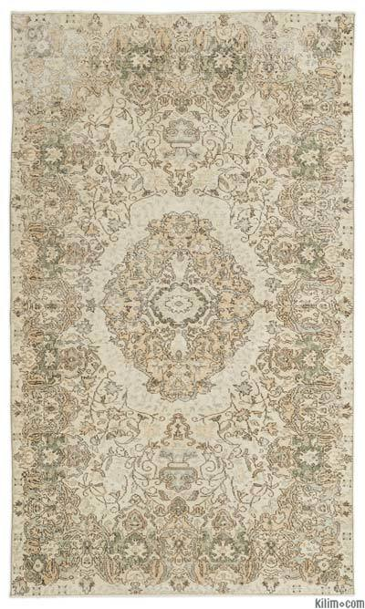 """Turkish Vintage Area Rug - 5'4"""" x 9'2"""" (64 in. x 110 in.)"""