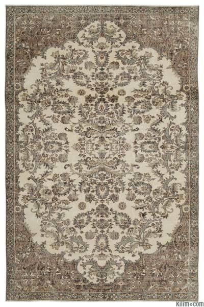 "Turkish Vintage Area Rug - 6'4"" x 9'9"" (76 in. x 117 in.)"