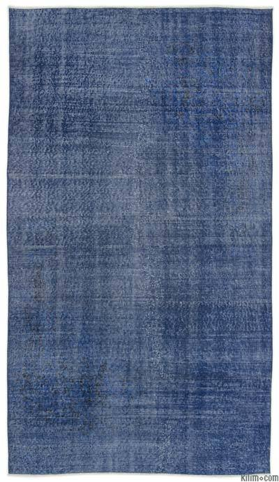 "Over-dyed Turkish Vintage Rug - 4'8"" x 8'7"" (56 in. x 103 in.)"