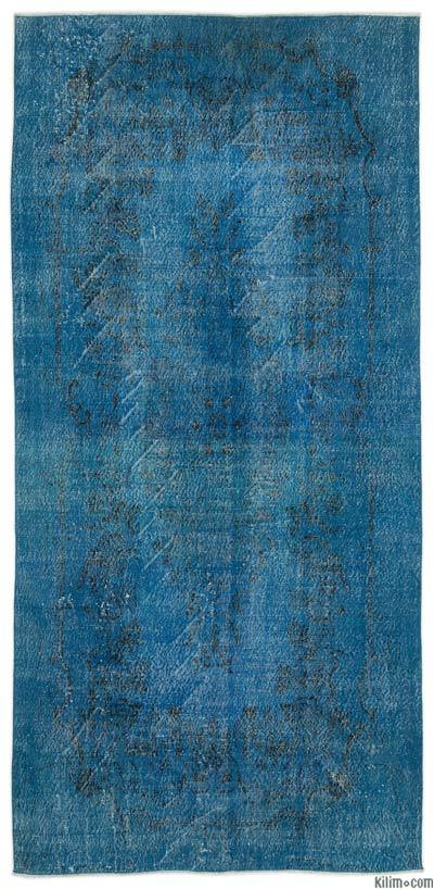 "Over-dyed Turkish Vintage Rug - 5'5"" x 11'1"" (65 in. x 133 in.)"