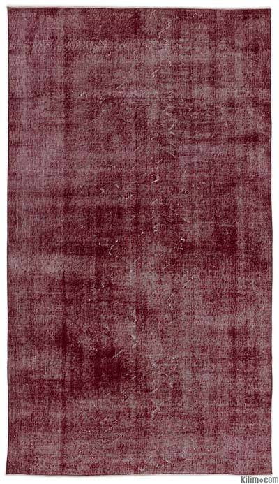 """Over-dyed Turkish Vintage Rug - 4'9"""" x 8'6"""" (57 in. x 102 in.)"""