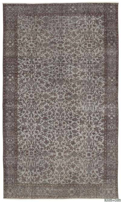 "Over-dyed Turkish Vintage Rug - 5' 5"" x 9' 5"" (65 in. x 113 in.)"