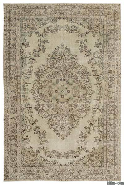 """Over-dyed Turkish Vintage Rug - 6'4"""" x 9'7"""" (76 in. x 115 in.)"""