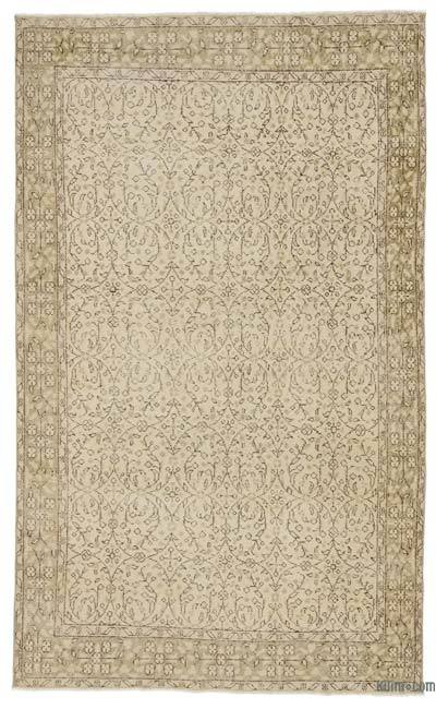 "Over-dyed Turkish Vintage Rug - 5'2"" x 8'7"" (62 in. x 103 in.)"