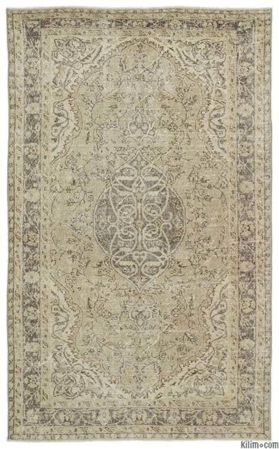 Alfombra Turca Vintage Sobre-teñida - 169 cm x 277 cm