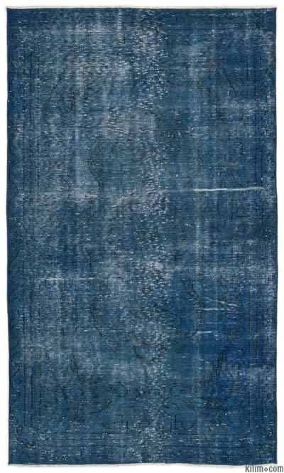Boyalı El Dokuma Vintage Halı - 146 cm x 242 cm