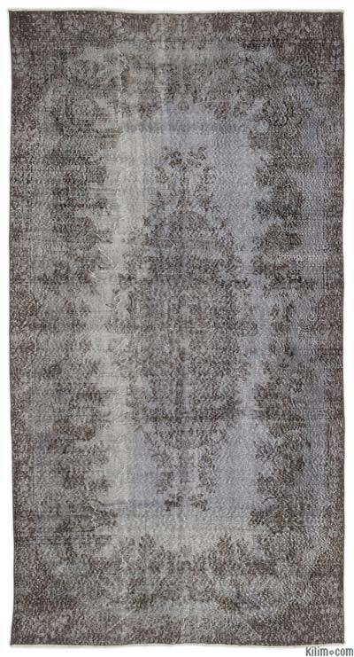 "Over-dyed Turkish Vintage Rug - 5'4"" x 10'2"" (64 in. x 122 in.)"