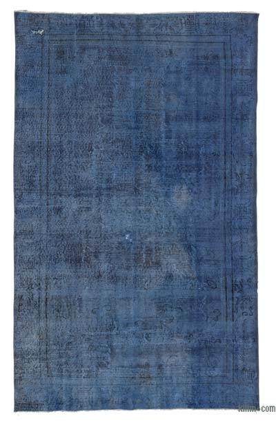 """Over-dyed Turkish Vintage Rug - 5' 3"""" x 8' 8"""" (63 in. x 104 in.)"""