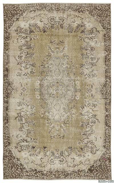 "Turkish Vintage Area Rug - 5' 6"" x 8' 8"" (66 in. x 104 in.)"