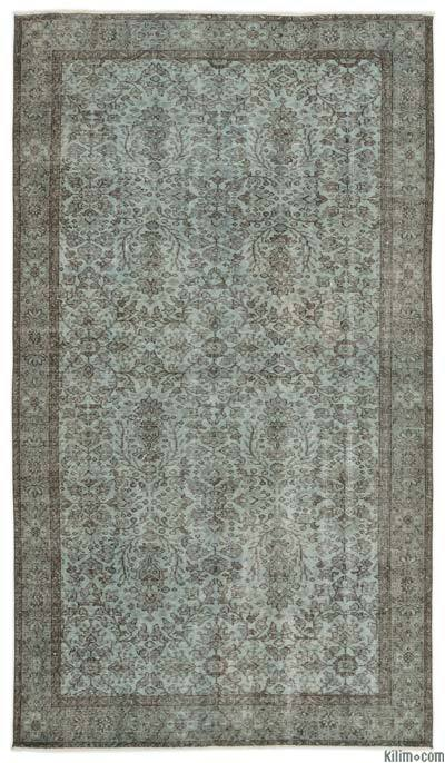 """Over-dyed Turkish Vintage Rug - 5' 3"""" x 9' 2"""" (63 in. x 110 in.)"""