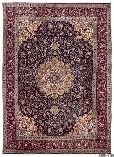"Vintage Hand-knotted Oriental Rug - 9'7"" x 13'3"" (115 in. x 159 in.)"