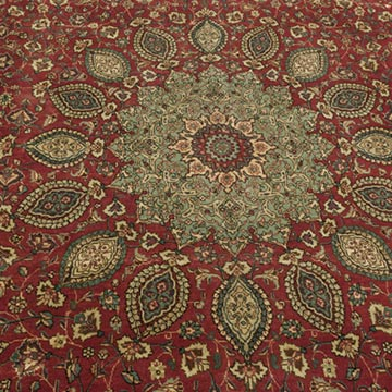 """Vintage Hand-Knotted Oriental Rug - 9' 2"""" x 12' 6"""" (110 in. x 150 in.) - K0018258"""